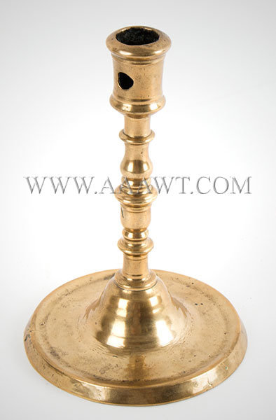 Antique Candlestick, Brass, Medieval Period  Franco/Flemish, 16th Century, entire view